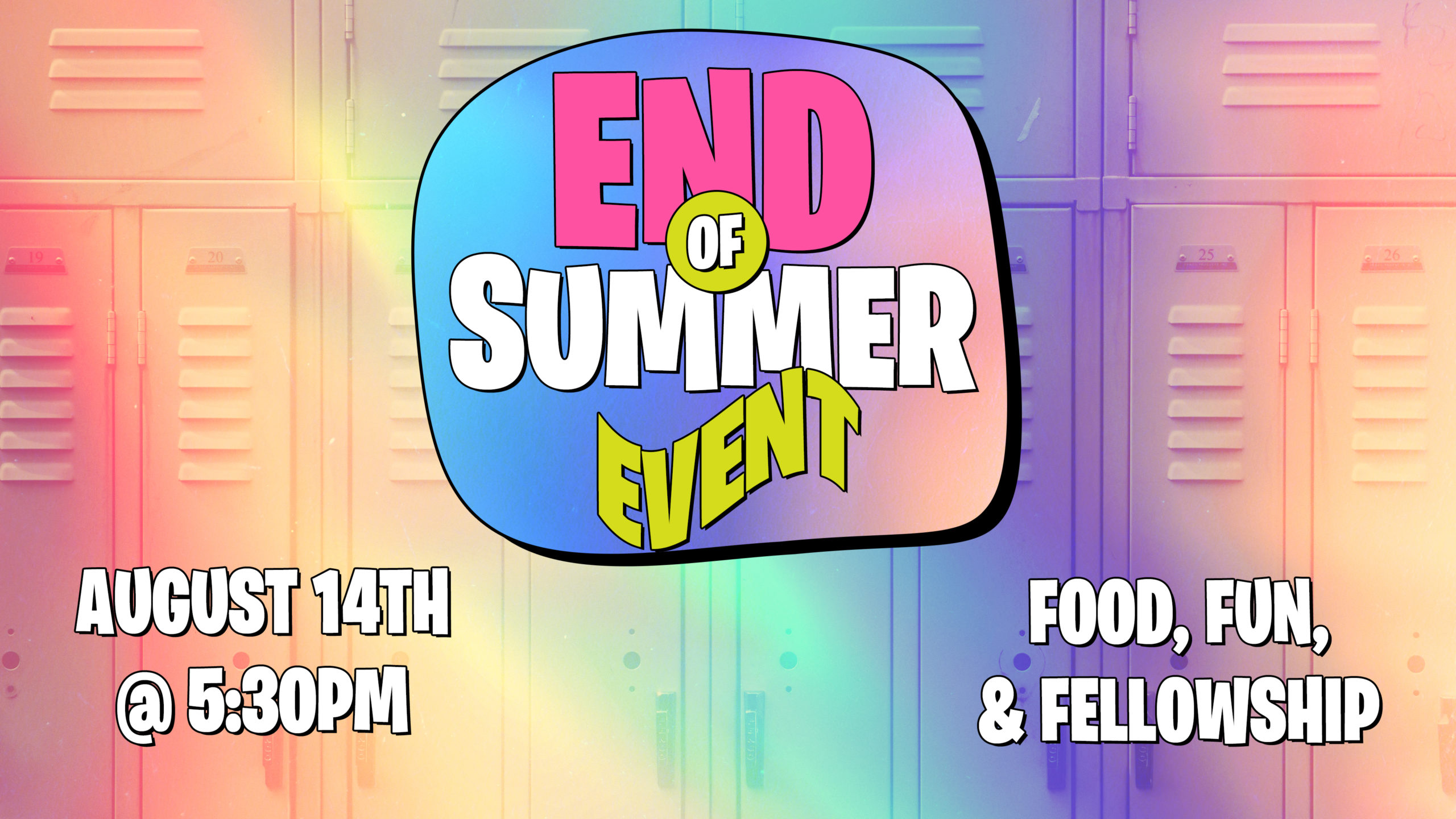 End Of Summer Event